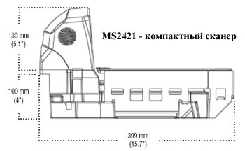 Сканер штрих-кода Metrologic MS2421