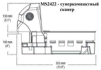 Сканер штрих-кода Metrologic MS2422